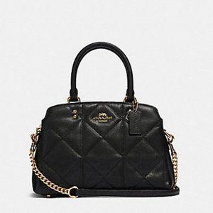Coach Lillie mini satchel quilting leather